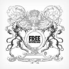 組み合わせ自由オリジナル紋章をデザインする無料ベクター素材150個