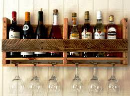 fanciful wine and glass rack diy d i y hanging type wall mount furniture for