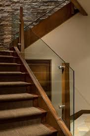 Stairs, Amazing Wood Railing Designs Outdoor Stair Railing Ideas Brown Wood  Railing With Glass Railing
