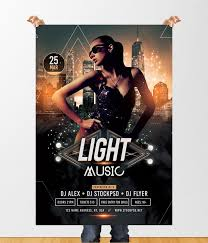 Free Music Poster Templates Light Music Is Free Psd Photoshop Flyer Template To Download