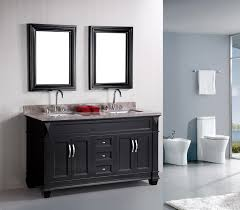 Traditional double sink bathroom vanities Granite Hudson 60 Listvanitiess Adorna 61