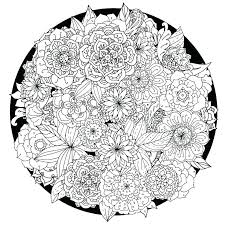Flower Coloring Pages Free Printable Artgalleriesnewyorkcom