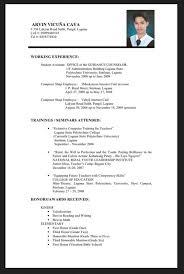 Resume Letter Philippines Resume Sample For Fresh Graduate Philippines