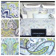 homely inpiration cynthia rowley duvet sets for the bed blue green set bedroom