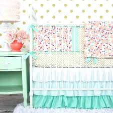 mint green crib bedding gray nursery canada