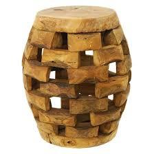 wood barrel furniture. Teak Wood Barrel Table Furniture