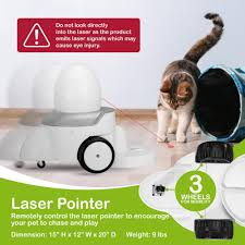 App-Enabled FunPaw Playbot Q Pet Camera & Pet Feeder: Play Video Chat & Feed  .