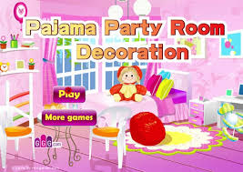 pajama party room decoration a free girl game on girlsgogames com