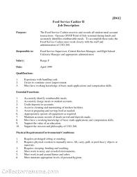 Resume Fast Food Worker Resume