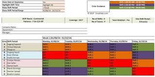 025 Template Ideas Rotating Schedule Calendar Shift Planner
