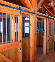 le with flat track hardware for individual horse stalls