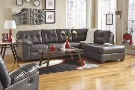 Living Room With Sectional Sofa Living Room Dark Gray Sectional Sofa With Chaise Grey Microfiber