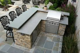 stone patio bar. Outdoor Grill And Bar Design Plans | Fieldstone Kitchen Featuring Raised Stone Counter, Patio O