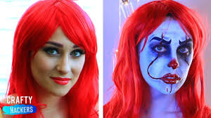 disney princess ariel turns herself into it s pennywise sfx makeup tutorial