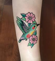 Hummingbird Done By Gina Medlock At High Hands Tattoo In Abq New