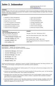 resume for restaurants restaurant manager resume template business