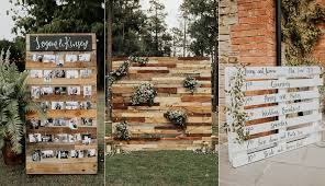 24 rustic country wood pallet wedding