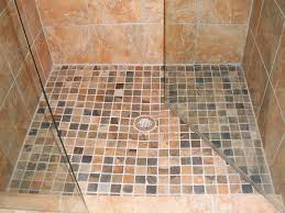 custom travertine shower w smaller tiles for flooring firstchoicegrout comfirstchoicegrout com