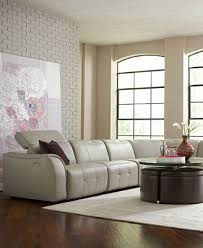 Novara Leather Sectional Living Room Furniture Collection Power