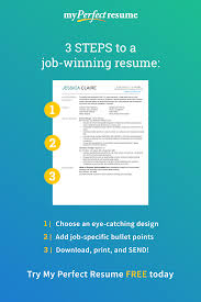 Quickly Build A Job Winning Resume In 3 Easy Steps With My Perfect