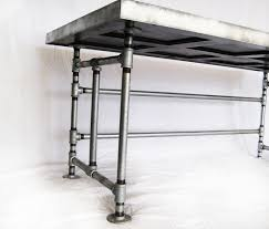 Furniture: Table Storage Using Reclaimed Galvanized Pipe Furniture .