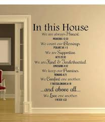 wall decals in this house verses wall decal e wall decal home decor wall decals