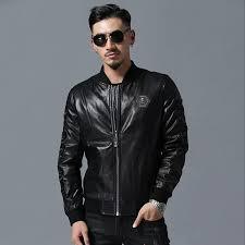 2018 new brand mens designer leather jackets black embroidery baseball collar coat motorcycle luxury jacket faux windbreaker coat size m 3xl uk 2019 from