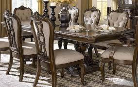 bonaventure park cherry double pedestal dining table