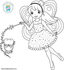Coloring Page 02 Tooth Fairy Express Dental Hygiene For Kids ...