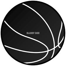 無料イラスト バスケットボール黒2スポーツ用品