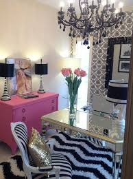 pink home office design idea. lol construction business with girly office hihi molly kateu0027s arteriors pink black and white feminine home design idea r