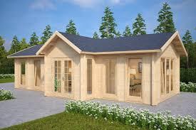 large garden log cabin the hansa office 40m2 70mm 4 x 10m big garden office ian