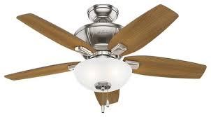 hunter kenbridge 42 kenbridge 42 5 blade led ceiling fan traditional ceiling fans by buildcom
