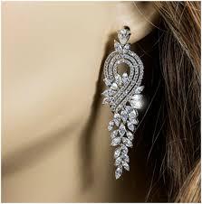 full size of living mesmerizing cubic zirconia chandelier earrings 22 4 vintage art deco cz marquise
