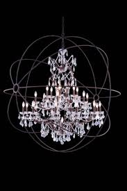 urban classic 25 light 60 rustic intent bronze iron extra large orb crystal chandelier