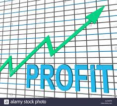 Chart Showing Increase Profit Chart Graph Showing Increase Cash Wealth Revenue