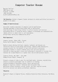 Computer Instructor Resume Sample Computer Teacher Resumes Savebtsaco 14