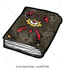 cartoon magic spell book csp14877045