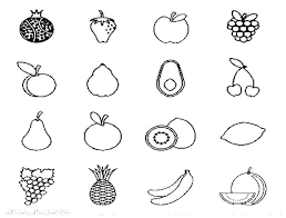 Printable Fruit Coloring Pages I Love Watermelon Fruit Coloring