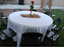 free round table ft chairs with center piece with what size tablecloth for 6ft round table