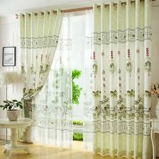 living room curtains. Fresh Light Green Polyester Chinese Style Decorative Living Room Curtains G