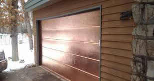 custom copper garage door