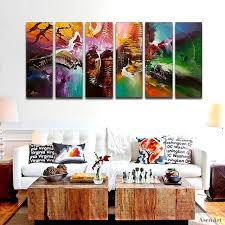 hand painted modern abstract oil painting canvas wall art for living room decoration multi panel large on large multi panel canvas wall art with hand painted modern abstract oil painting canvas wall art for living