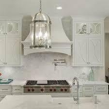 off white kitchen backsplash. Beautiful Backsplash Off White Kitchen Cabinets With Marble Countertops And Backsplash