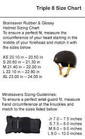 Triple 8 Brainsaver Size Chart Triple 8 Brainsaver Rubber Helmet Black Skate Gear