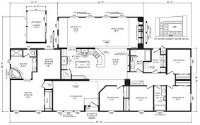 triple wide floor plans mobile homes