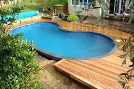 swimming pool decks. Semi Inground Pool With Deck Photo 5 Of 9 Landscaping Ideas Swimming Decks