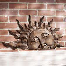 >outdoor sun wall art japs fo fascinating outdoor sun wall art home pictures half face indoor metal plaque walls and hand painted