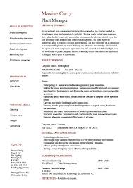 Production Manager Resumes Plant Manager Resume Production Job Description Cv