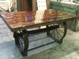 metal wagon wheel table - Google Search